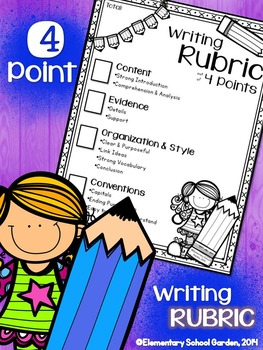 FREE 4-Point Writing Rubric (Checklist) for Expository Wri