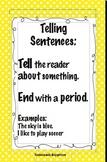 4 Polka Dot Types of Sentences Posters