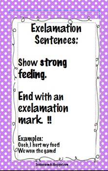 4 Polka Dot Types of Sentences Posters