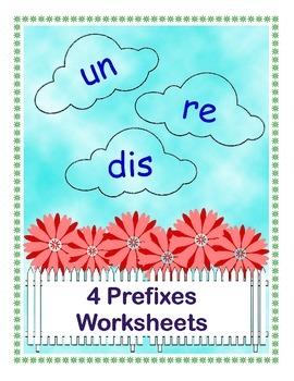 4 prefixes worksheets un re dis by kelly connors teachers pay teachers. Black Bedroom Furniture Sets. Home Design Ideas