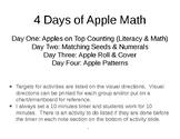 4 Preschool Apple Math (step by step visual breakdown included)
