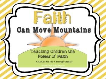 4 Printable Faith Activities - Teaching Children Faith Scripture