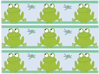 4 Printable Frog Themed Bulletin Board Borders