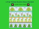 4 Printable Frog Themed Bulletin Board Borders
