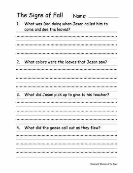 Autumn - Activities and 4 printable stories - Mini-Bundle C -Grades 2 to 3