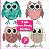 4 Printable Owl Paper Piecing Patterns