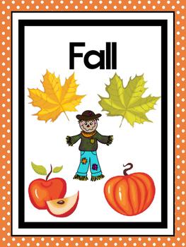 photograph regarding Seasons Printable called 4 Printable Seasons Posters. Seasons Preschool Posters.