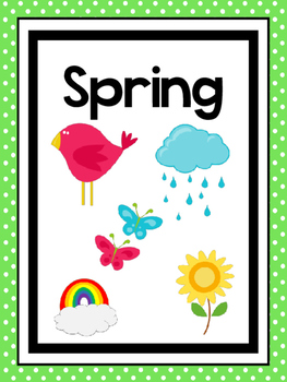 4 Printable Seasons Posters Seasons Preschool Posters By