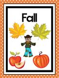 4 Printable Seasons Posters. Seasons Preschool Posters.