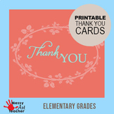 4 Printable Thank You Cards