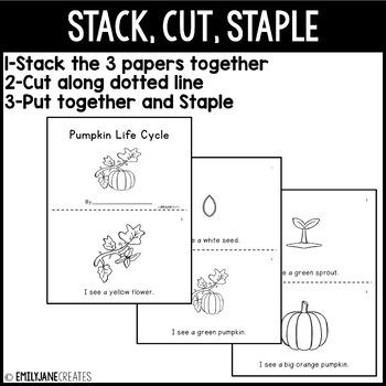 4 Pumpkin Emergent Readers
