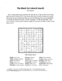 4 Puzzle,Edgar Allan Poe,The Black Cat,Adverb Search,Vocabulary,X-word,Halloween