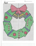 4 Quadrant Coordinate Graph Mystery Picture, Reed Christmas Wreath