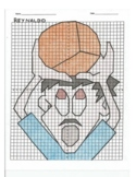 4 Quadrant Coordinate Graph Mystery Picture, Reynaldo the Basketball Player