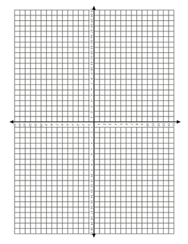 4 Quadrant Coordinate Grid (horizontal)
