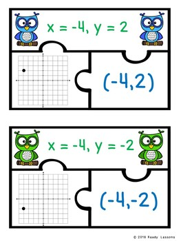 4 Quadrant Graphing Ordered Pair and Coordinate Plane Graphing Activity 6.NS.6
