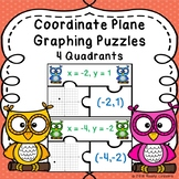 4 Quadrant Graphing Ordered Pair and Coordinate Plane Graph Activity 6.NS.6