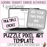 4 Question Puzzle Pixel Art Template for Commercial and Pe