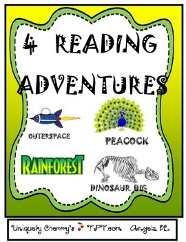 4 READING ADVENTURES / Center Displays - 3rd-4th Gr.