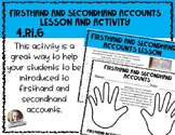 4.RI.6 Firsthand and Secondhand Accounts Lesson and Activity