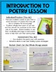 4.RL.5 Poetry Lesson, Activity and Quiz