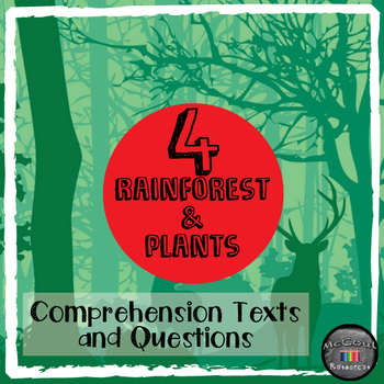 4 Rainforest and Plants Comprehension Texts and Answers