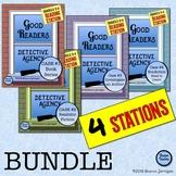 4 Reading Station BUNDLE! Good Readers Detective Agency - grades 2-4