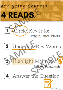 4 Reads Strategy Poster