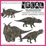 4 Real! 4 Realistic Dinosaur Clip Art Images - Achelousaurus