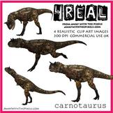 4 Real! 4 Realistic Dinosaur Clip Art Images - Carnotaurus