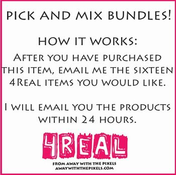 4 Real! 16 for the price of 10 BUNDLE!!! - Pick any 16 packs