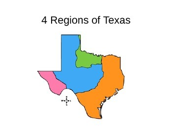 Map Of Texas For 4th Grade.4 Regions Of Texas