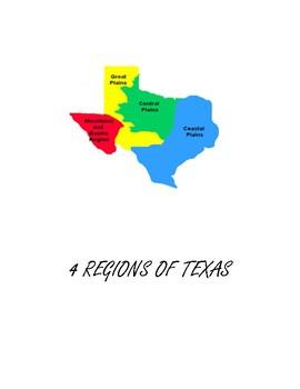 Map Of Texas 4 Regions.4 Regions Of Texas Activity