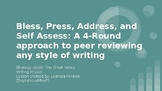 4 Round Peer Editing Approach