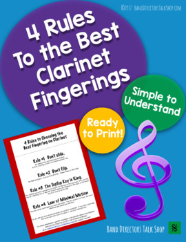4 Rules To the Best Clarinet Fingerings FREEBIE