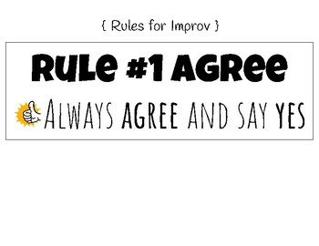 4 Rules of Improv