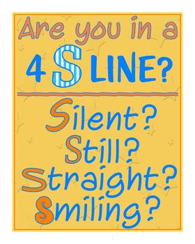 """4 """"S"""" Line Poster"""