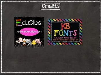 4-S Line Poster- Chalkboard Theme