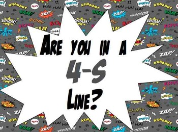 4-S Line Posters- Superhero Theme
