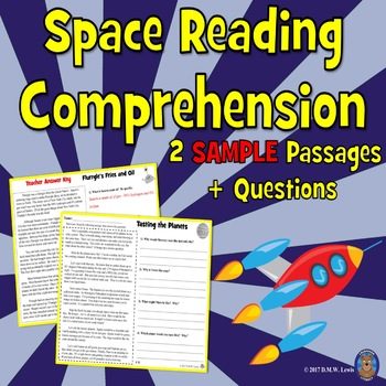 4 SAMPLE Space Reading Comprehension Passages: Close Readi