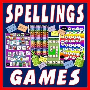 4 SPELLINGS BOARD GAMES