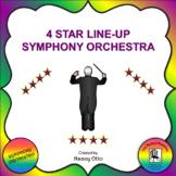 4 Star Line Up:  Symphony Orchestra