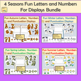 4 Seasonal Fun Alphabet Letter, Numbers and Punctuation Bundle