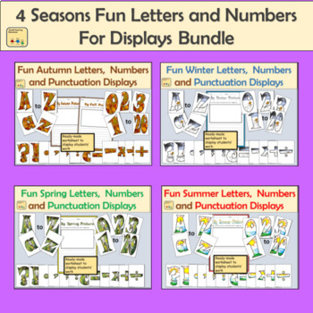 Seasonal Fun Alphabet Lettering, Numbers and Punctuation Bundle