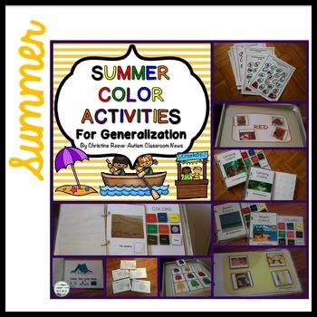 Color Activities*4 Seasons Bundle for Generalization {Autism, Early Childhood}