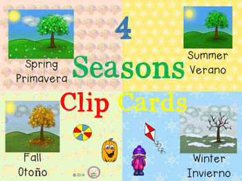 4 Seasons Clip Cards