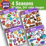 4 Seasons Clipart Bundle