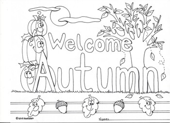 4 Seasons Coloring Pages