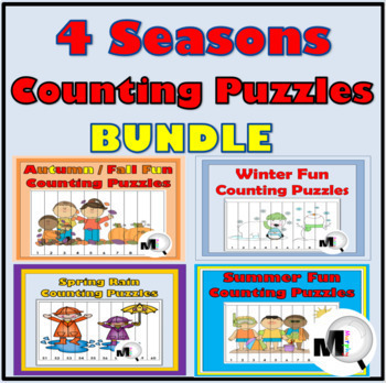 Seasons Counting & Skip Counting Puzzles Bundle ~ 50% Disc