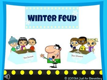 4 Seasons Feud Powerpoint Game {BUNDLE}